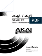 Akai Z4/Z8 Sampler Manual