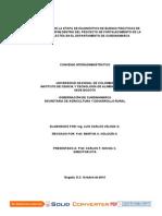 INFORME FINAL DE LA ETAPA DE DIAGNÓSTICO DE BUENAS PRÁCTICAS DE MANUFACTURA (BPM) DENTRO DEL PROYECTO DE FORTALECIMIENTO DE LA CADENA LÁCTEA EN EL DEPARTAMENTO DE CUNDINAMARCA