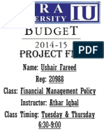 Budget Pakistan 2015 Question/Answers