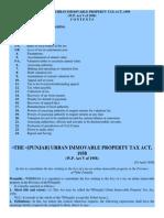Property Tax Punjab 1958
