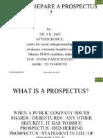 How to Prepare a Prospectus
