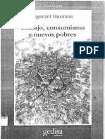 Zygmunt Bauman Trabajo Consumismo y Nuevos Pobres Libro Completo