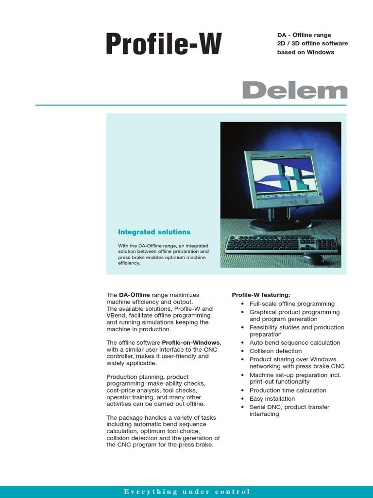 Leaflet Delem Profile-W En | Computer Programming | 2 D