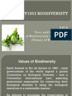 Lu6 Stf1053 Biodiversity - The Values of Biodiversity