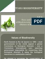 Lu6 Stf1053 Biodiversity - The Values of Biodiversity