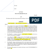 Affidavit for Arrest