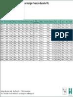 Technische Daten Abkantpresse PRL