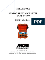Miller 400A Users Manual