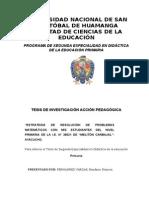"""""""ESTRATEGIA DE RESOLUCIÓN DE PROBLEMAS MATEMÁTICOS CON MIS ESTUDIANTES DEL NIVEL PRIMARIA DE LA I.E. N° 38021 DE """"MELITÓN CARBAJAL""""- AYACUCHO."""