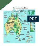Mapa Fisico Oceania