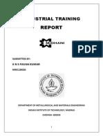 Sample Internship Report 1