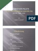 Webanwendungen - Dokumentenbeschreibung