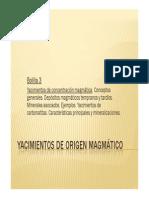 Yacimientos de Origen Magmático