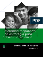 Paternidad Responsiva Una Estrategia Para Prevenir La Violencia