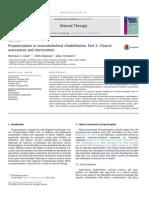 Proprioception in musculoskeletal rehabilitation. Part 2