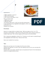 Recipes- June 2014