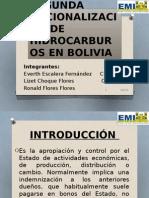 Segunda Nacionalización de Hidrocarburos en Bolivia