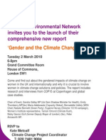 Women's Environmental Network Invites You to The