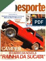 Revista Auto Esporte N_303--08_1990-Envemo Camper-Transamazonas Bike Expedition-Picape GM D20 4x4 QT Engenharia