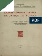 Labor Administrativa de Javier de Burgos