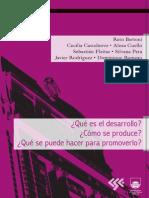¿Qué es el Desarrollo? ¿Cómo se produce? ¿Qué se puede hacer para promoverlo? Construcción y análisis de problemas del desarrollo.