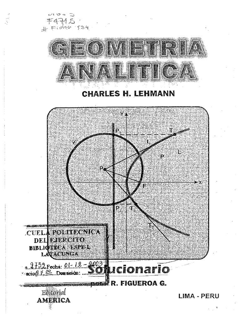 geometria de lehmann solucionario