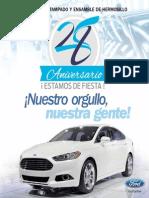 FORD - Planta de estampado y ensamble de Hermosillo. 28° Aniversario