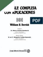 Variable Compleja Con Aplicaciones