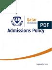 SEK International School Qatar Admissions Policy