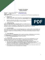 Syl 1011 Cognitive Psychology