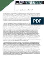 Borón-Quién sostendra a la nueva constitucion en Bolivia