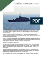 Navy Ships Depart Pearl Harbor for RIMPAC 2010 Exercises