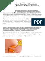 Straordinaria Tecnica Per Combattere Efficacemente Cellulite, Adiposità Localizzate Electronic Rilassamento Cutaneo