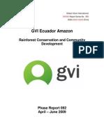 Amazon Phase Report 092 April-June 2009