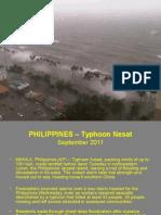 Philippines Typhoon Pedring Sept 2011