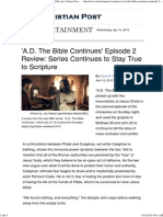 'a.D. the Bible Continues' Ep. 2 Review