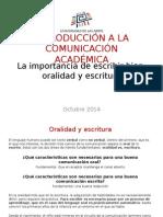 (3) La Importancia de Escribir Bien II - Oralidad y Escritura