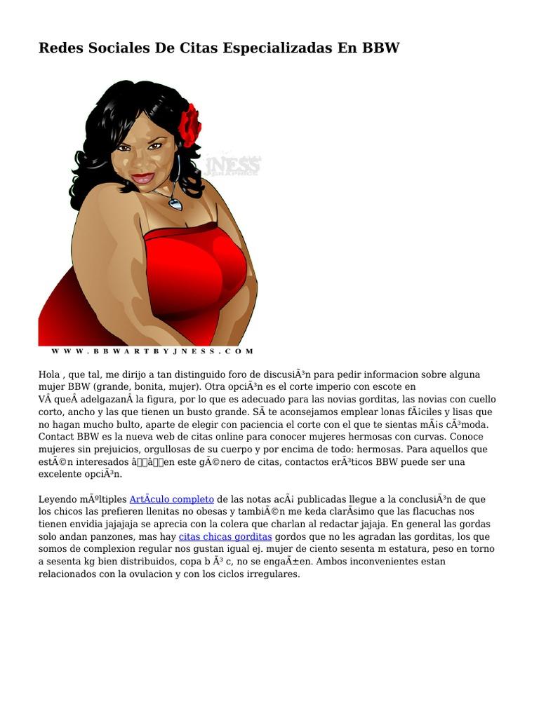 Mujeres Gordas Bbw redes sociales de citas especializadas en bbw | obesidad
