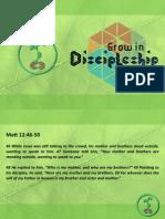 Grow in Discipleship 4 - Jesus Obedient Family