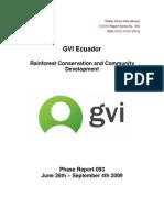 Amazon Phase Report 093 June-September 2009