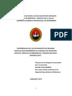 experiencias  de los estudiantes de segunda especialidad en cuidado de pacientes criticos, servicio de emergencia HND  2015..docx