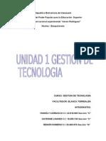 Trabajo Grupal Definitivo Unidad 1 GESTION DE TECNOLOGIA