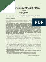 Estimacion Del Numero de Muertos Por El Papado en La Edad Media y Mas Tarde