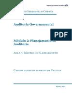 Auditoria Governamental - Matriz de Planejamento