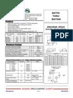 BAT54 Series MCC - (L4,L42,L43,L44) (KL1,KL2,KL3,KL4) Tipo SOT23.pdf