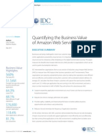 IDC Business Value of AWS May 2015