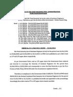 Ae Seniority List Upto 2011