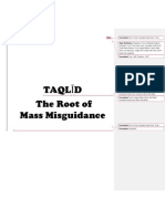 Root of Misguidance Taqlid