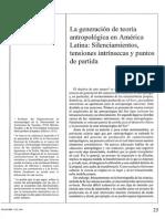 teoría antropológica latinoamericana