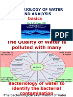 Bacteriology of Water